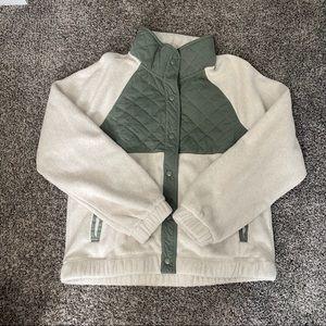 NWT Abercrombie Snap Up Fleece Jacket